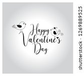 valentines day lettering vector ... | Shutterstock .eps vector #1269889525