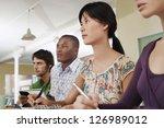 four multi ethnic friends... | Shutterstock . vector #126989012