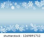 winter snowflakes border... | Shutterstock .eps vector #1269891712