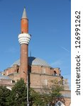 Small photo of Sofia, Bulgaria - famous Banya Bashi Mosque. Ottoman architecture.