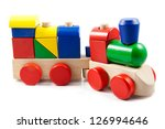 Colorful Wooden Toy Train...