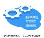 two cogwheels  settings icon.... | Shutterstock .eps vector #1269950005