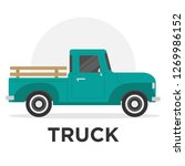 truck illustration vector | Shutterstock .eps vector #1269986152