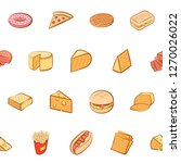 american food and cheeses set.... | Shutterstock .eps vector #1270026022