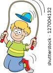 cartoon illustration of a boy... | Shutterstock . vector #127004132
