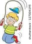 cartoon illustration of a boy... | Shutterstock .eps vector #127004195