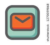 messaging icon vector. user... | Shutterstock .eps vector #1270059868