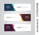 vector abstract web banner... | Shutterstock .eps vector #1270065088