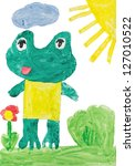 childrens drawings   frog | Shutterstock . vector #127010522