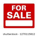 red for sale sign with black... | Shutterstock .eps vector #1270115812