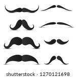 set of hipster mustache | Shutterstock .eps vector #1270121698