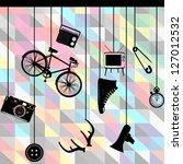 retro set   Shutterstock .eps vector #127012532