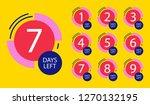 number of days left badge  for... | Shutterstock .eps vector #1270132195