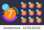 number of days left badge  for... | Shutterstock .eps vector #1270132222