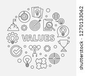 values vector round concept... | Shutterstock .eps vector #1270133062
