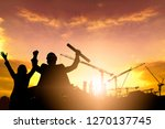 silhouette engineer at... | Shutterstock . vector #1270137745