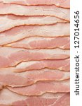 close-up photo of bacon for backgrounds or textures - stock photo