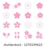 cherry blossom flower icon set | Shutterstock .eps vector #1270149622