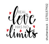 real love has no limits.... | Shutterstock .eps vector #1270157932