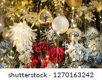 christmas ornaments on the...   Shutterstock . vector #1270163242
