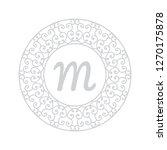 ornamental mandala  monogram... | Shutterstock .eps vector #1270175878