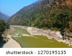 the trishuli river of nepal its ... | Shutterstock . vector #1270195135