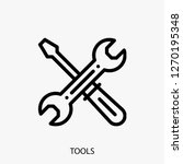 tools concept line icon. tools...