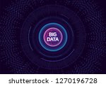 futuristic big data technology...   Shutterstock .eps vector #1270196728