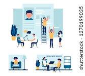 job agency. job interview ... | Shutterstock .eps vector #1270199035