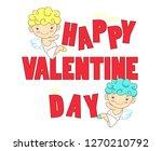 happy valentine day. funny...   Shutterstock .eps vector #1270210792