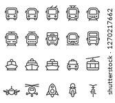 public transport outline style... | Shutterstock . vector #1270217662