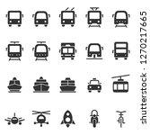 public transport shape style... | Shutterstock . vector #1270217665