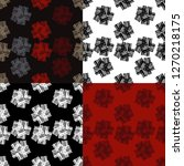 set of 4 seamless pattern of... | Shutterstock .eps vector #1270218175