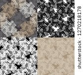 set of 4 seamless pattern of... | Shutterstock .eps vector #1270218178