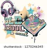 old school sound   decorative... | Shutterstock .eps vector #1270246345