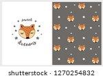 cute hand drawn abstract fox...   Shutterstock .eps vector #1270254832