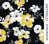 seamless floral pattern.... | Shutterstock .eps vector #1270261342