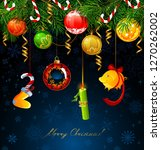 funny numbers of new year... | Shutterstock .eps vector #1270262002