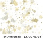 gold silver paper snowflakes... | Shutterstock .eps vector #1270270795