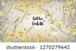 modern realistic gold tinsel... | Shutterstock .eps vector #1270279642