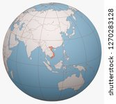 vietnam on the globe. earth...   Shutterstock .eps vector #1270283128