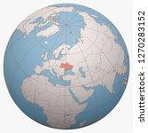 ukraine on the globe. earth... | Shutterstock .eps vector #1270283152