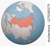 russia on the globe. earth... | Shutterstock .eps vector #1270283275
