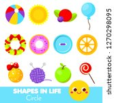 shapes in life. circle....   Shutterstock .eps vector #1270298095