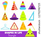 shapes in life. triangle.... | Shutterstock .eps vector #1270298725