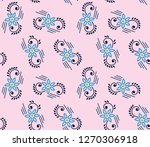 floral pattern in the small... | Shutterstock .eps vector #1270306918