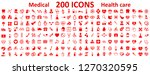 set 200 medecine and health... | Shutterstock .eps vector #1270320595