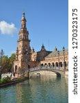 plaza of spain  seville . plaza ... | Shutterstock . vector #1270323175