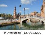 plaza of spain  seville . plaza ... | Shutterstock . vector #1270323202