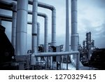 piping in a chemical plant | Shutterstock . vector #1270329415